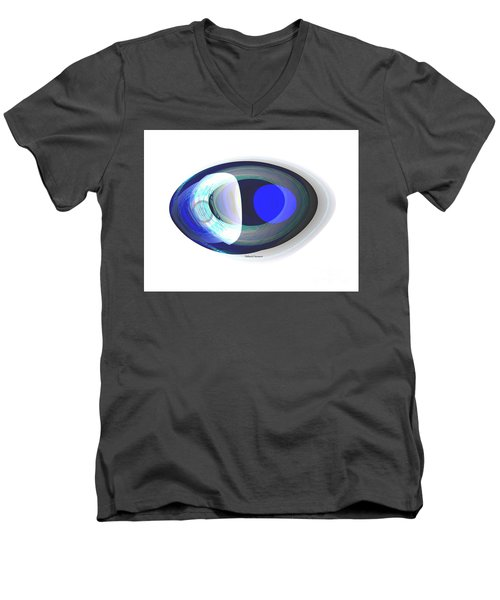 Crystal Eye Men's V-Neck T-Shirt by Thibault Toussaint