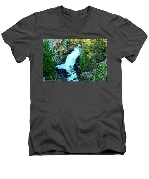 Crystal Falls , Washington Men's V-Neck T-Shirt