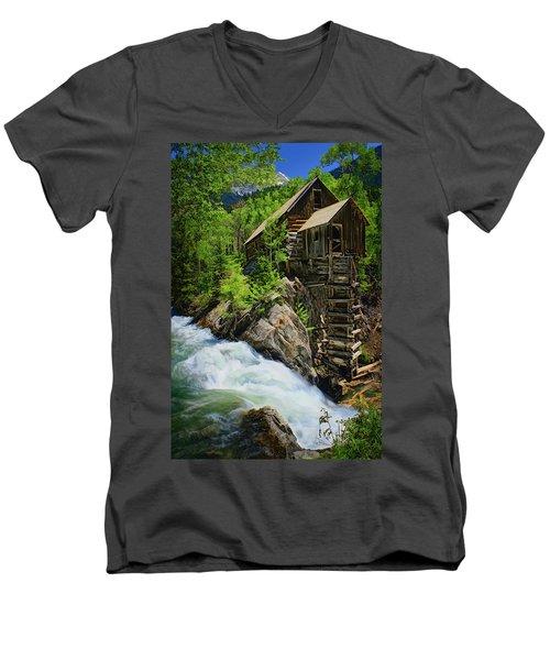 Crystal Mill Men's V-Neck T-Shirt