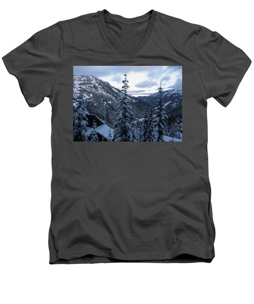 Crystal Mountain Dawn Men's V-Neck T-Shirt