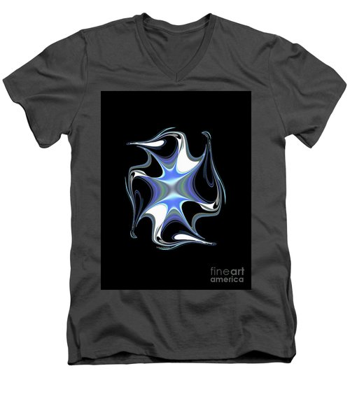 Crystal Penguin Men's V-Neck T-Shirt by Thibault Toussaint