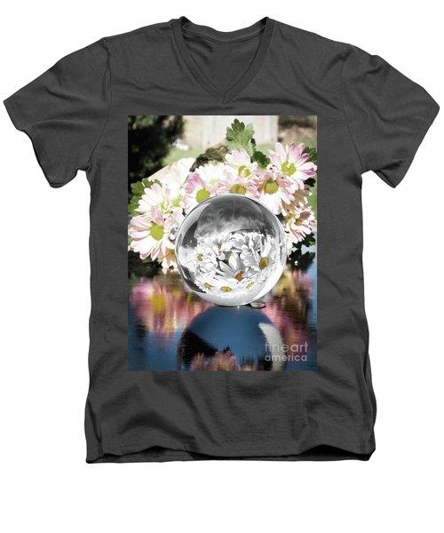 Crystal Reflection Men's V-Neck T-Shirt by Deborah Klubertanz