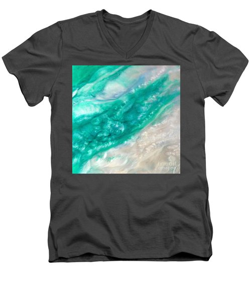 Crystal Wave11 Men's V-Neck T-Shirt