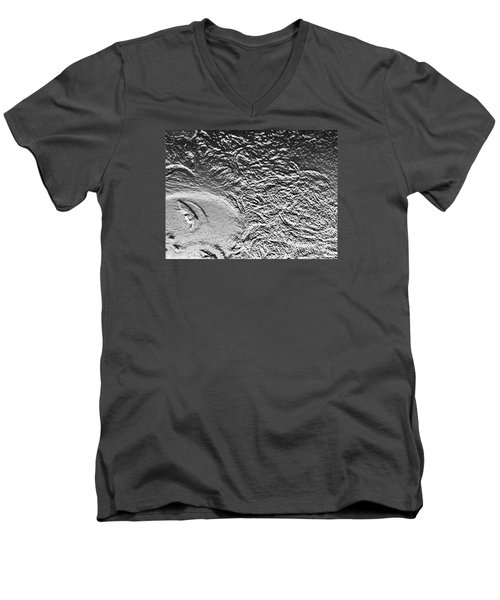 Men's V-Neck T-Shirt featuring the digital art Crystalized by Lyric Lucas