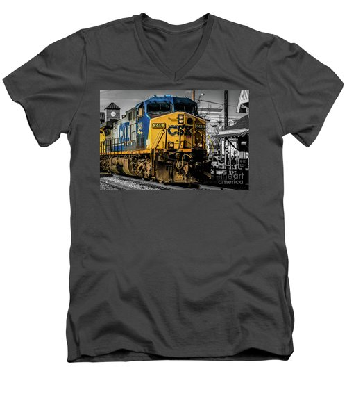 Csx Engine Gaithersburg Md Men's V-Neck T-Shirt