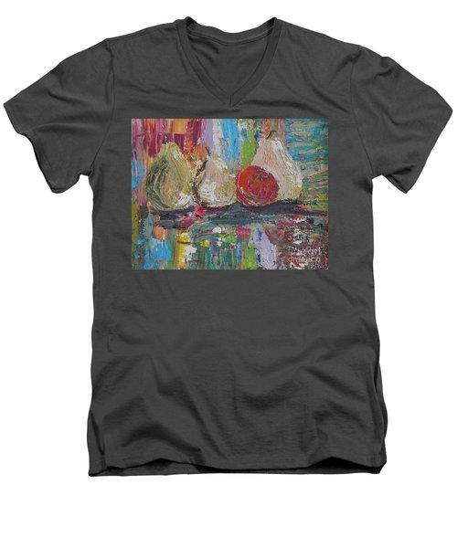 Cuatro Men's V-Neck T-Shirt by Judith Espinoza