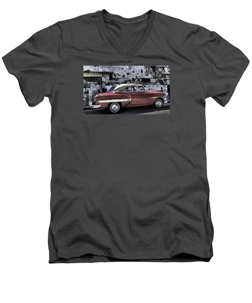Cuba Cars 2 Men's V-Neck T-Shirt by Will Burlingham