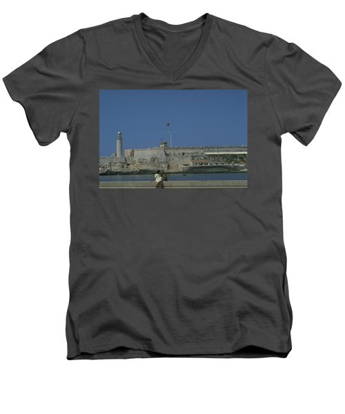 Cuba In The Time Of Castro Men's V-Neck T-Shirt