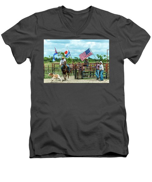 Cuban Cowboys Men's V-Neck T-Shirt