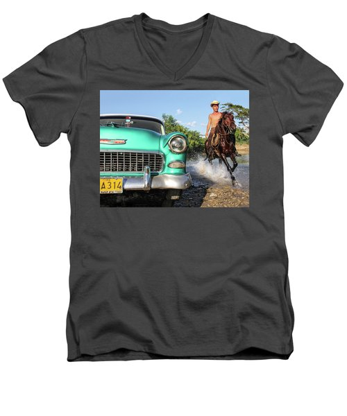 Cuban Horsepower Men's V-Neck T-Shirt