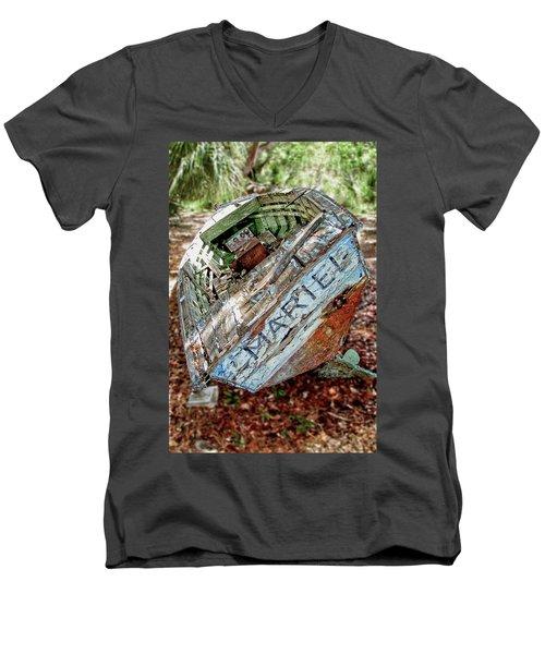 Cuban Refugee Boat 3 The Mariel Men's V-Neck T-Shirt