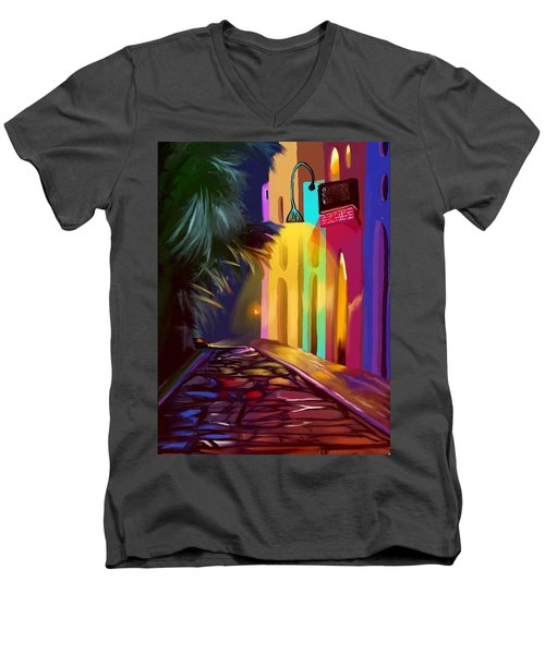 Cubano Street Men's V-Neck T-Shirt