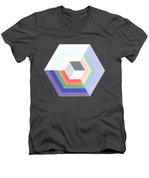 Cube Men's V-Neck T-Shirt by Julio Lopez