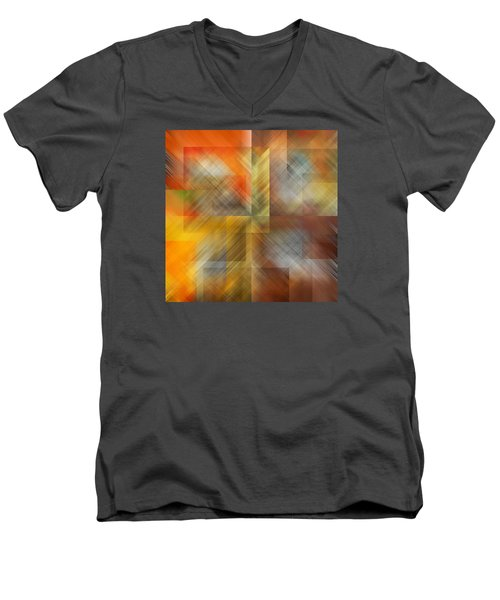 Men's V-Neck T-Shirt featuring the photograph Cubic Space by Mark Greenberg