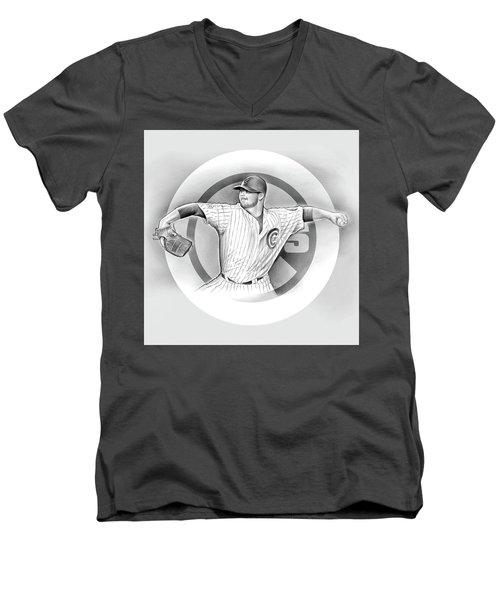 Cubs 2016 Men's V-Neck T-Shirt by Greg Joens