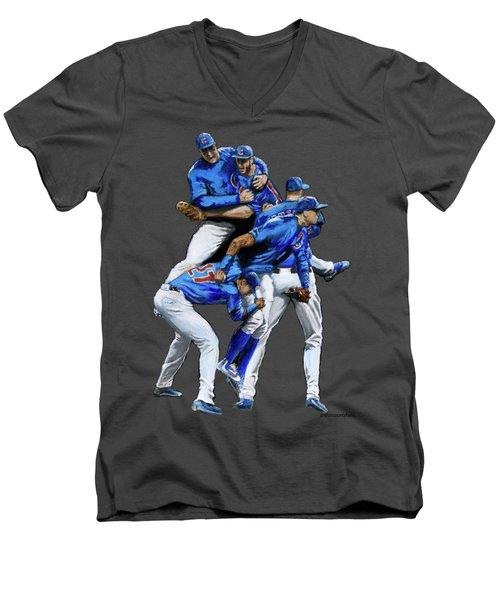 Cubs Win Men's V-Neck T-Shirt