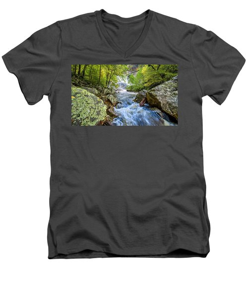 Cullasaja Falls Men's V-Neck T-Shirt