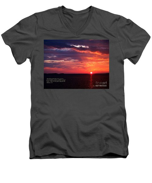 Cumc Solstice Men's V-Neck T-Shirt