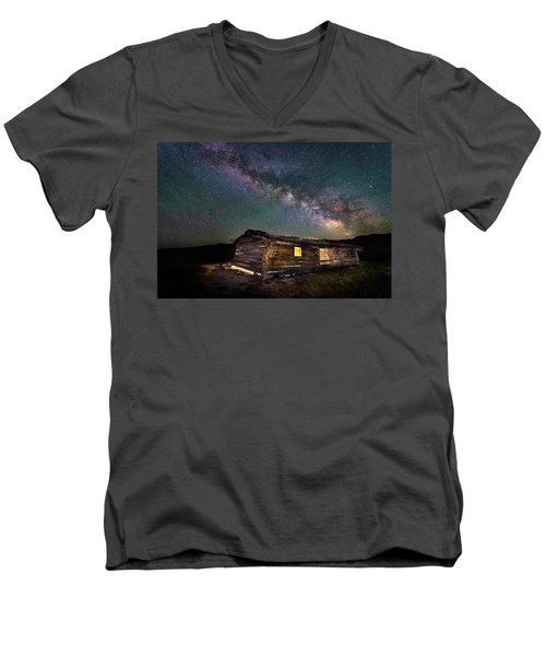 Cunningham Cabin After Dark Men's V-Neck T-Shirt