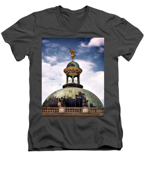 Cupola At Sans Souci Men's V-Neck T-Shirt