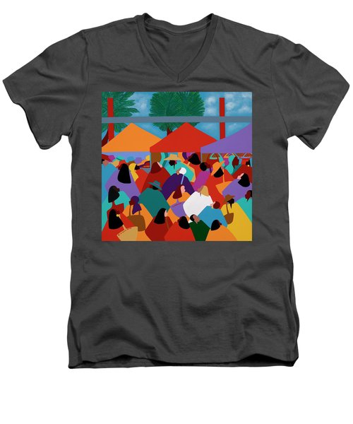 Curacao Market Men's V-Neck T-Shirt