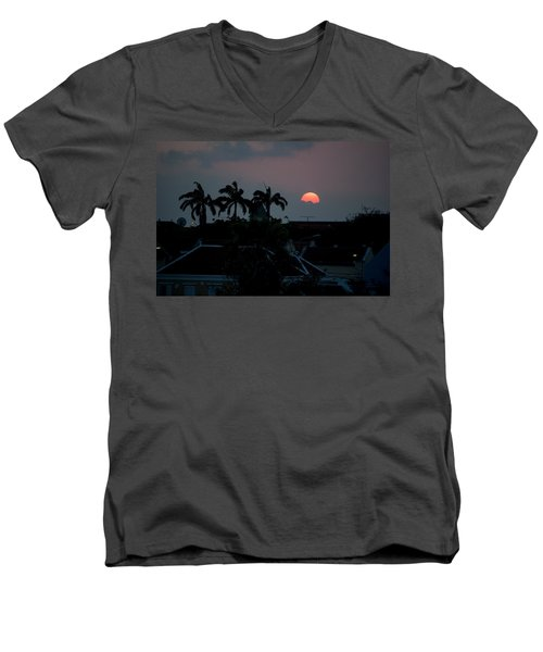 Curacao Sun Rise Men's V-Neck T-Shirt