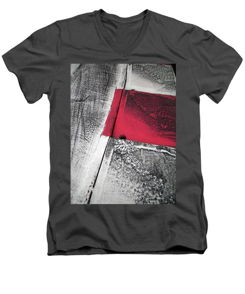 Men's V-Neck T-Shirt featuring the photograph Curbs At The Canadian Formula 1 Grand Prix by Juergen Weiss