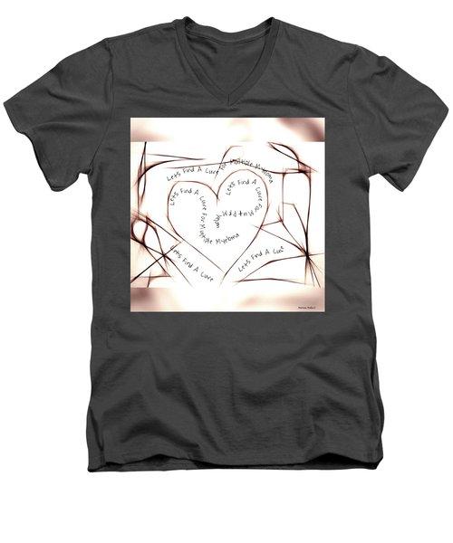 Cure Multiple Myeloma Men's V-Neck T-Shirt