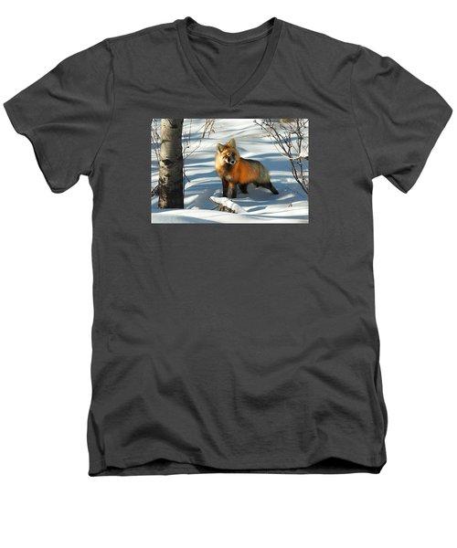 Curious Fox Men's V-Neck T-Shirt