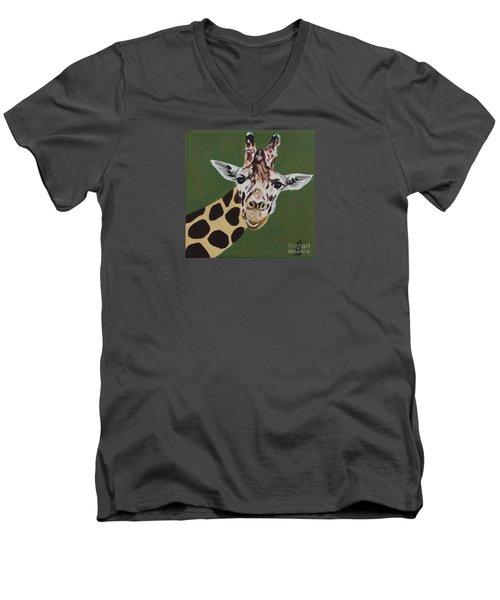 Curious Giraffe Men's V-Neck T-Shirt