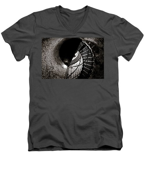 Men's V-Neck T-Shirt featuring the photograph Currituck Spiral II by David Sutton