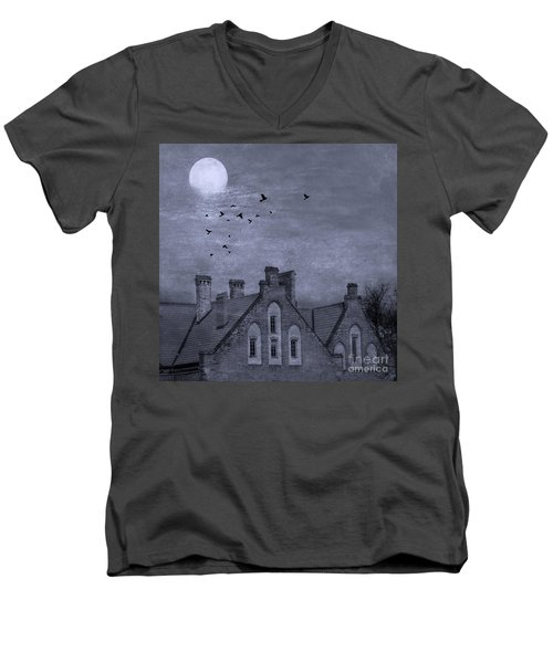 Men's V-Neck T-Shirt featuring the photograph Curse Of Manor House by Juli Scalzi