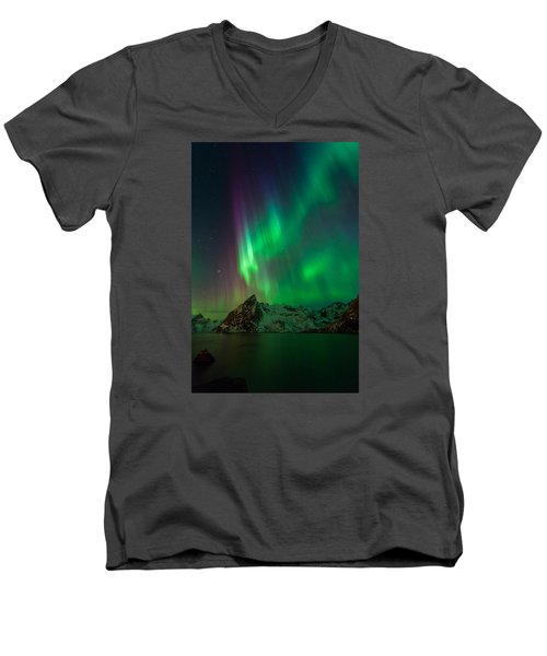 Curtains Of Light Men's V-Neck T-Shirt
