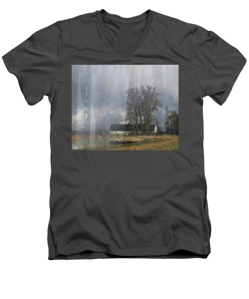 Curtains Of The Mind Men's V-Neck T-Shirt by I'ina Van Lawick