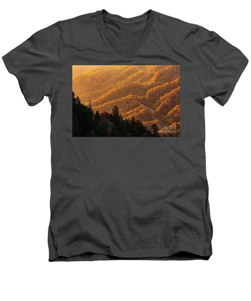 Smoky Mountain Roads Men's V-Neck T-Shirt