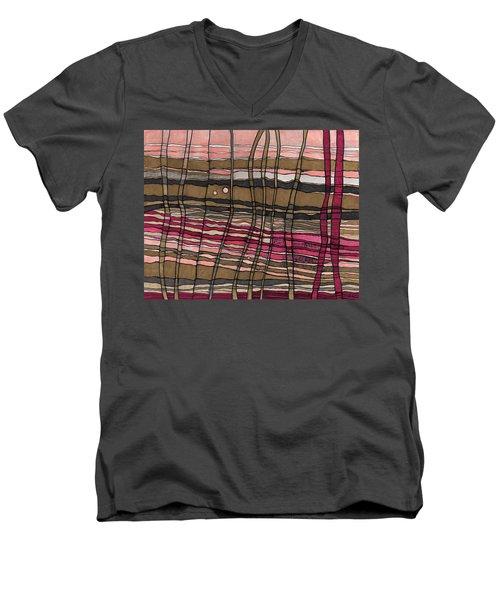 Stalks At Sunset Men's V-Neck T-Shirt