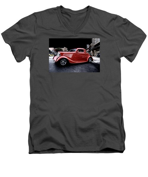 Custom Car On Street Men's V-Neck T-Shirt