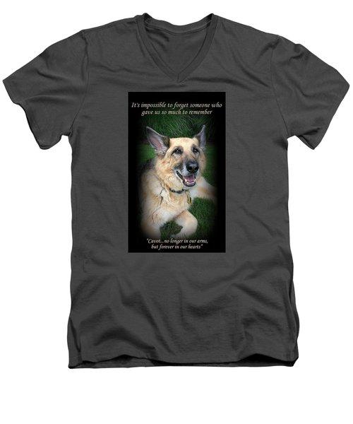 Custom Paw Print Cavot Men's V-Neck T-Shirt
