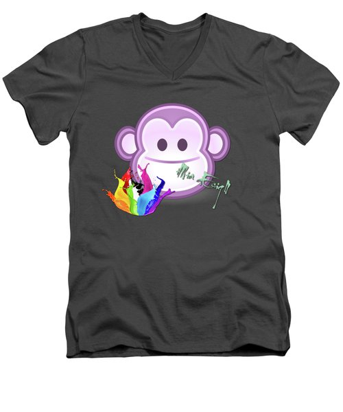 Cute Gorilla Baby Men's V-Neck T-Shirt by iMia dEsigN