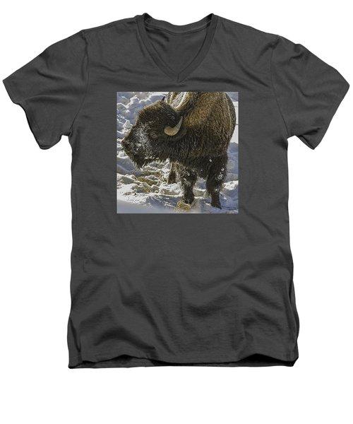 Cute Men's V-Neck T-Shirt