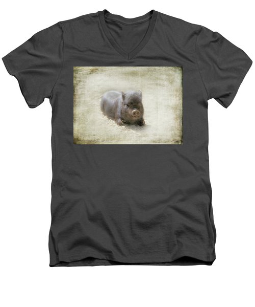 Cuteness Incarnate Men's V-Neck T-Shirt by Marilyn Wilson