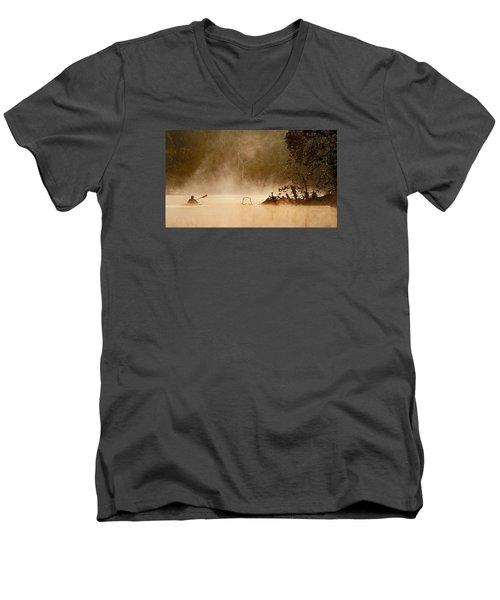 Cutting Through The Mist Men's V-Neck T-Shirt by Robert Charity