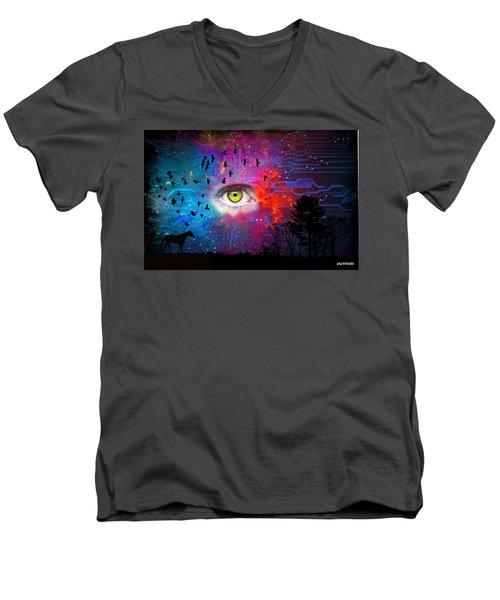 Cyber Nature Men's V-Neck T-Shirt