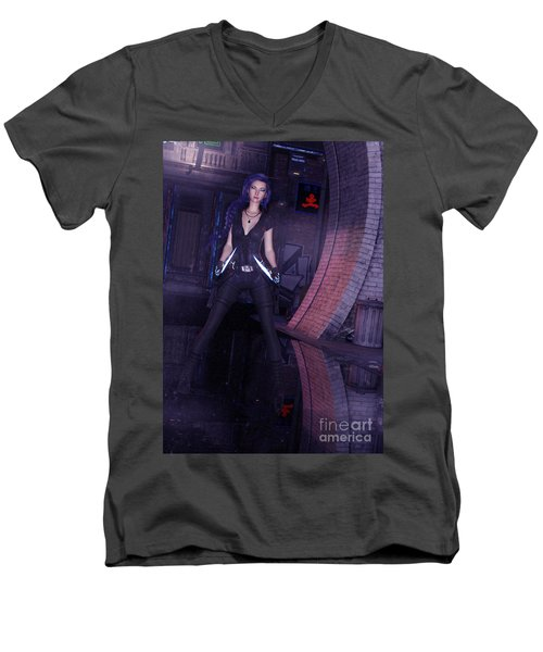 Cyberpunk Assassin Men's V-Neck T-Shirt