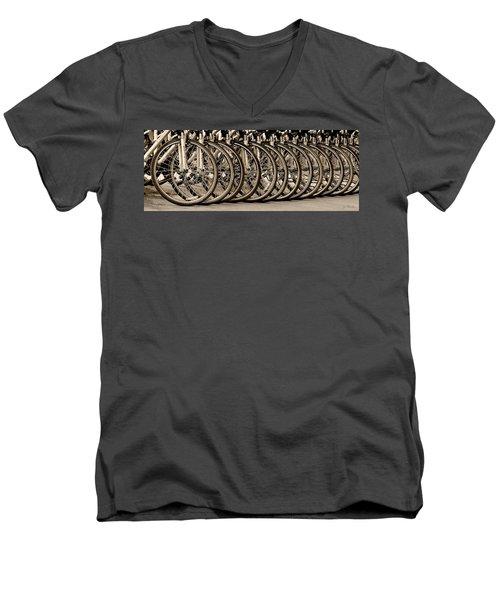 Cycles Men's V-Neck T-Shirt by Joe Bonita