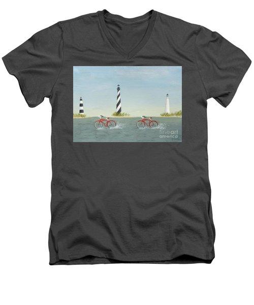 Cycling The Pamlico Sound Men's V-Neck T-Shirt