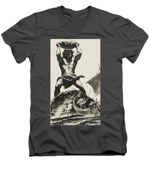 Cyclops Men's V-Neck T-Shirt by Angus McBride