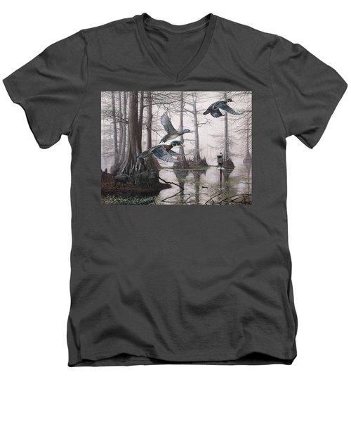 Cypress Bayou Neighbors Men's V-Neck T-Shirt
