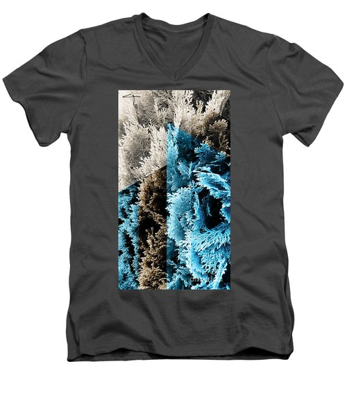 Cypress Branches No.3 Men's V-Neck T-Shirt