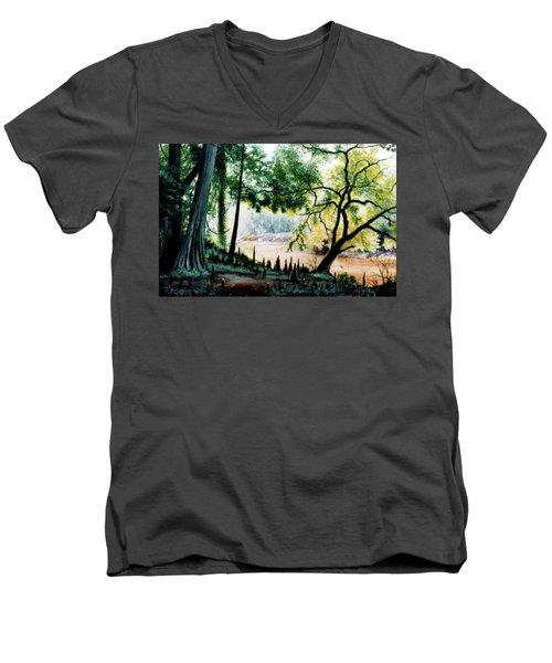 Cypress Knees Men's V-Neck T-Shirt